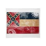 Mississippi Flag Throw Blanket