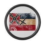 Mississippi Flag Large Wall Clock