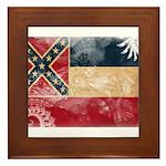 Mississippi Flag Framed Tile
