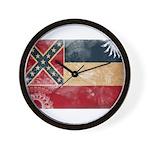 Mississippi Flag Wall Clock