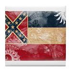 Mississippi Flag Tile Coaster