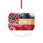 Mississippi Flag Ornament (Round)