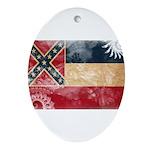 Mississippi Flag Ornament (Oval)