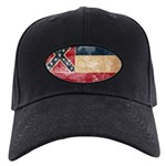Mississippi Flag Black Cap