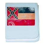 Mississippi Flag baby blanket