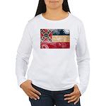 Mississippi Flag Women's Long Sleeve T-Shirt