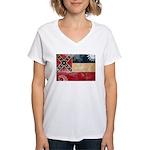 Mississippi Flag Women's V-Neck T-Shirt