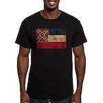 Mississippi Flag Men's Fitted T-Shirt (dark)