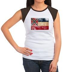 Mississippi Flag Women's Cap Sleeve T-Shirt