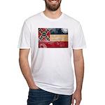 Mississippi Flag Fitted T-Shirt