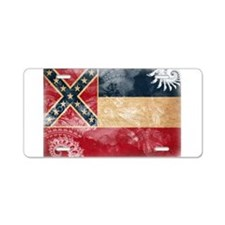 Mississippi Flag Aluminum License Plate