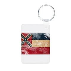 Mississippi Flag Keychains