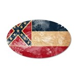 Mississippi Flag 22x14 Oval Wall Peel