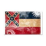 Mississippi Flag Car Magnet 20 x 12
