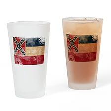 Mississippi Flag Drinking Glass