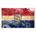 Missouri Flag Sticker (Rectangle 10 pk)