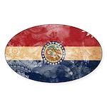 Missouri Flag Sticker (Oval 50 pk)