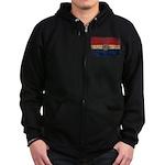 Missouri Flag Zip Hoodie (dark)