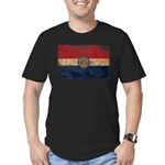 Missouri Flag Men's Fitted T-Shirt (dark)
