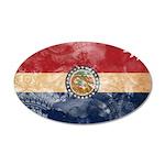 Missouri Flag 38.5 x 24.5 Oval Wall Peel