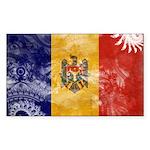 Moldova Flag Sticker (Rectangle 10 pk)