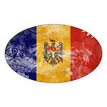 Moldova Flag Sticker (Oval 50 pk)