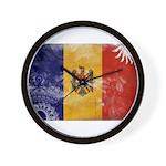 Moldova Flag Wall Clock