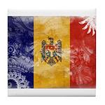 Moldova Flag Tile Coaster