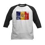 Moldova Flag Kids Baseball Jersey