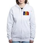 Moldova Flag Women's Zip Hoodie