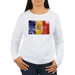 Moldova Flag Women's Long Sleeve T-Shirt