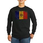 Moldova Flag Long Sleeve Dark T-Shirt