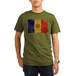 Moldova Flag Organic Men's T-Shirt (dark)