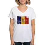 Moldova Flag Women's V-Neck T-Shirt