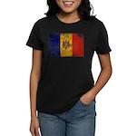 Moldova Flag Women's Dark T-Shirt
