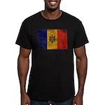 Moldova Flag Men's Fitted T-Shirt (dark)