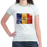 Moldova Flag Jr. Ringer T-Shirt
