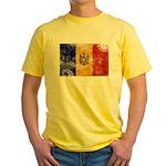 Moldova Flag Yellow T-Shirt