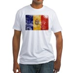 Moldova Flag Fitted T-Shirt