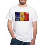 Moldova Flag White T-Shirt