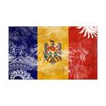 Moldova Flag 38.5 x 24.5 Wall Peel