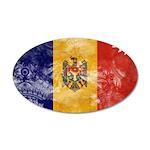 Moldova Flag 38.5 x 24.5 Oval Wall Peel