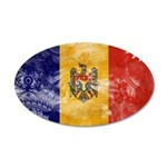 Moldova Flag 22x14 Oval Wall Peel