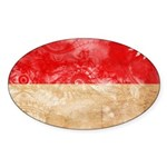 Monaco Flag Sticker (Oval 50 pk)