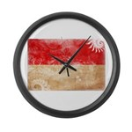 Monaco Flag Large Wall Clock