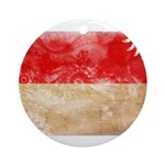 Monaco Flag Ornament (Round)