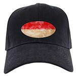 Monaco Flag Black Cap