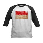 Monaco Flag Kids Baseball Jersey