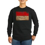 Monaco Flag Long Sleeve Dark T-Shirt