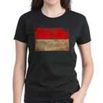 Monaco Flag Women's Dark T-Shirt